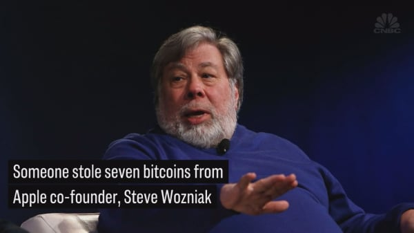 Steve Wozniak says someone stole seven bitcoins from him