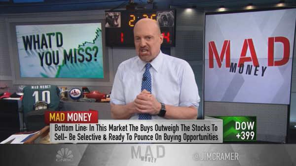A potential dip? Cramer's favorite market indicator