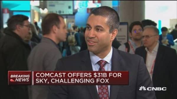 FCC's Ajit Pai: Regulators should focus on merits of M&A