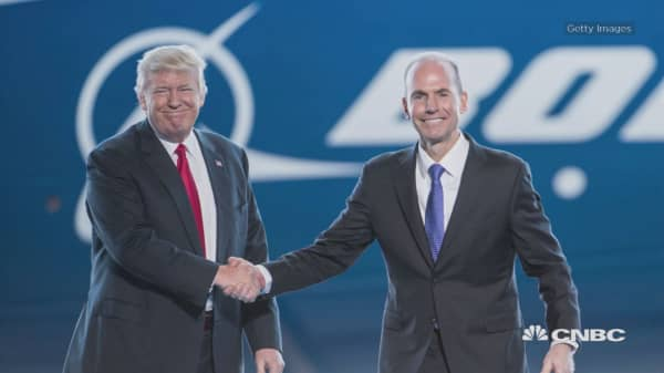 The White House has cut a deal with Boeing