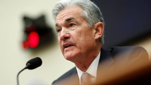 Federal Reserve Chairman Jerome Powell delivers the semi-annual Monetary Policy Report to the House Financial Services Committee hearing in Washington, February 27, 2018.