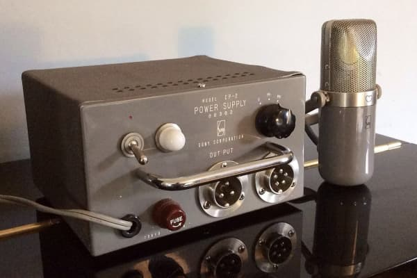 The 1958 Sony C-37A vintage tube condenser microphone may be old, but it fetches a pretty penny.