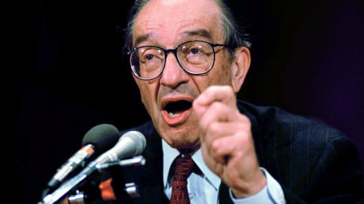 Federal Reserve Board Chairman Alan Greenspan in 1996.