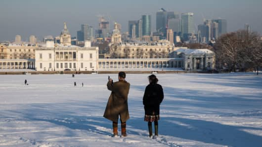 'Beast From The East' Sends Europe Mercury Plummeting