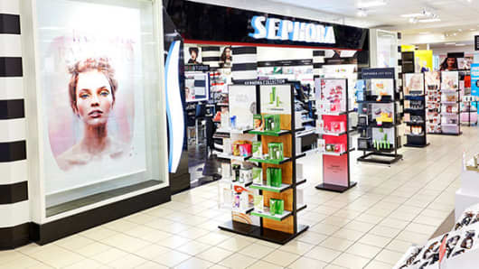 A Sephora store inside JC Penney.