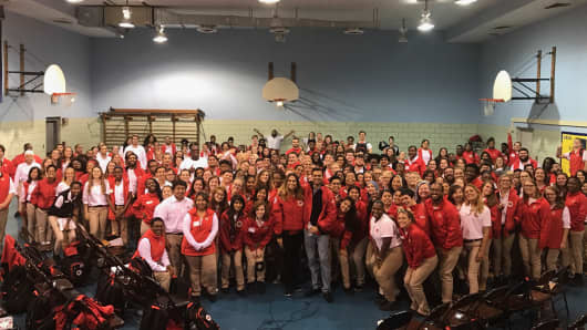 City Year Chicago recruits a corps of 230 recent college graduates to work in Chicago's most economically challenged public schools. Although they only make $12,000 for the full year, the number of applicants vastly exceeds the number of available slots.