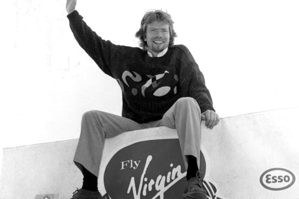 Richard Branson used a two-way door approach to launch Virgin Airlines.