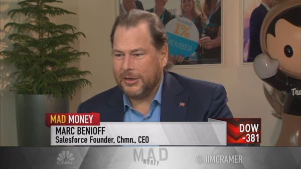 CRM's Benioff: $20 billion revenue target just became that much more attainable