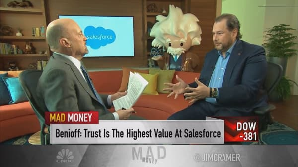 CRM's Benioff: Companies that don't value trust will 'pay a terrible price'