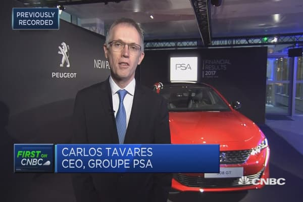 Groupe PSA CEO sees room to improve after 'remarkable' earnings