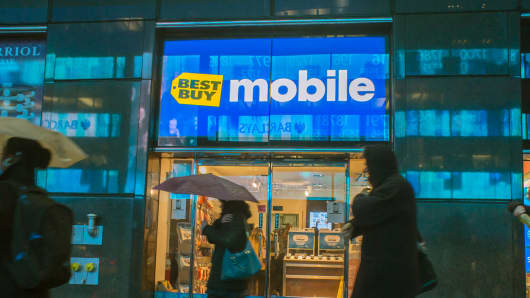 A Best Buy mobile phone store in New York.