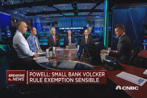 Powell strikes more dovish tone during Senate testimony