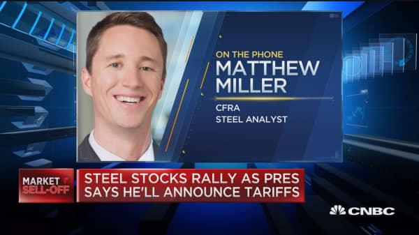 Steel stocks rally as Trump announces tariffs