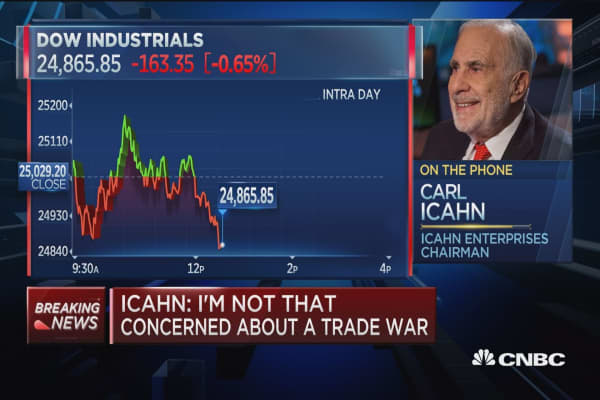 Carl Icahn: My biggest stock market worry is 'creeping inflation'