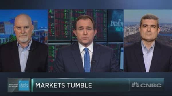 Stocks tumble off Trump tariff announcement