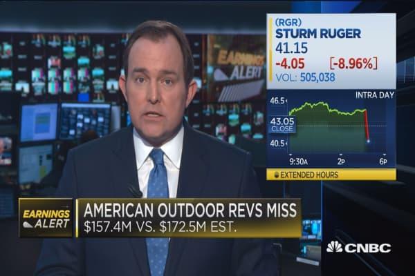 American Outdoor Brands misses on top line