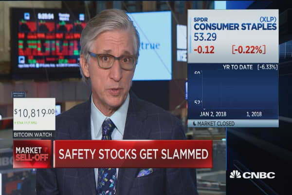 As markets sink, so-called safety stocks are getting slammed
