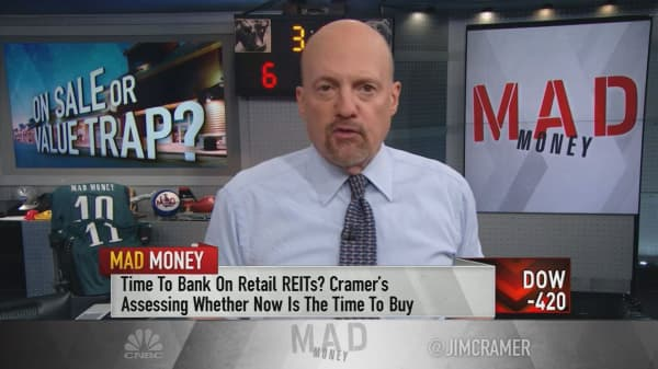 Cramer: Don't be fooled—retail REITs' stocks are still very risky to own