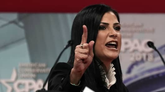 National Rifle Association spokeswoman Dana Loesch speaks during CPAC 2018 February 22, 2018 in National Harbor, Maryland.