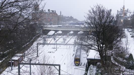 A general view showing Edinburgh Waverley railway station on March 1, 2018 in Edinburgh, United Kingdom.