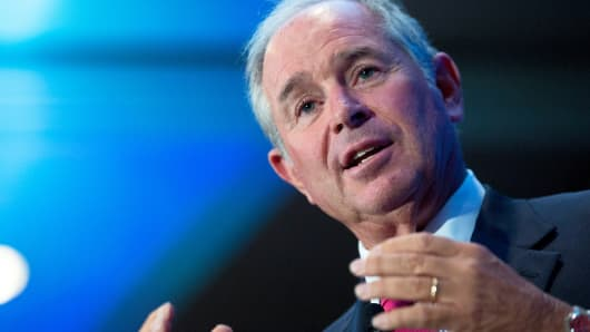 Stephen 'Steve' Schwarzman, co-founder, chairman and chief executive officer of Blackstone Group LP, speaks at an Economic Club of Washington luncheon in Washington, D.C., U.S., on Tuesday, Sept. 15, 2015.