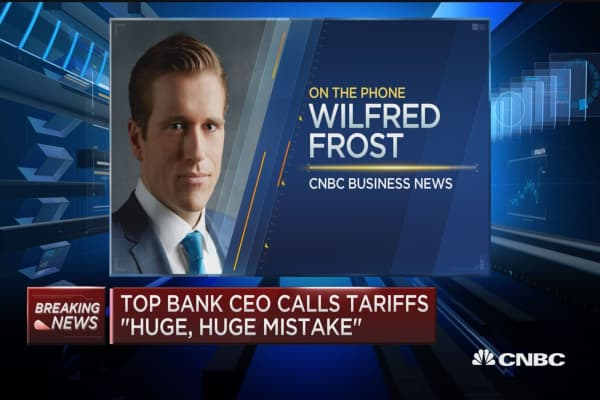 Top bank CEO calls tariffs 'huge, huge mistake'