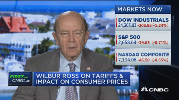 Commerce Secretary Wilbur Ross: Trump tariffs will have a 'broad' but 'trivial' impact on prices