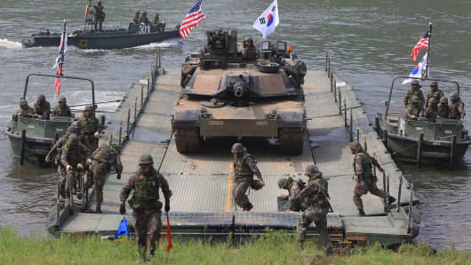 U.S. joint military exercise with South Korea in Yeoncheon-gun, South Korea.