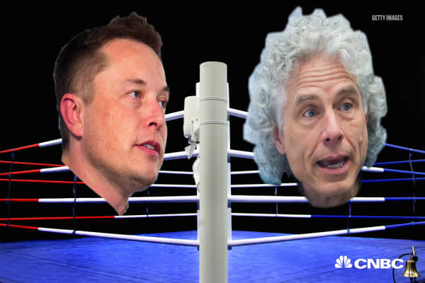 Elon Musk responds to Harvard professor Steven Pinker's comments on A.I.: 'Humanity is in deep trouble'
