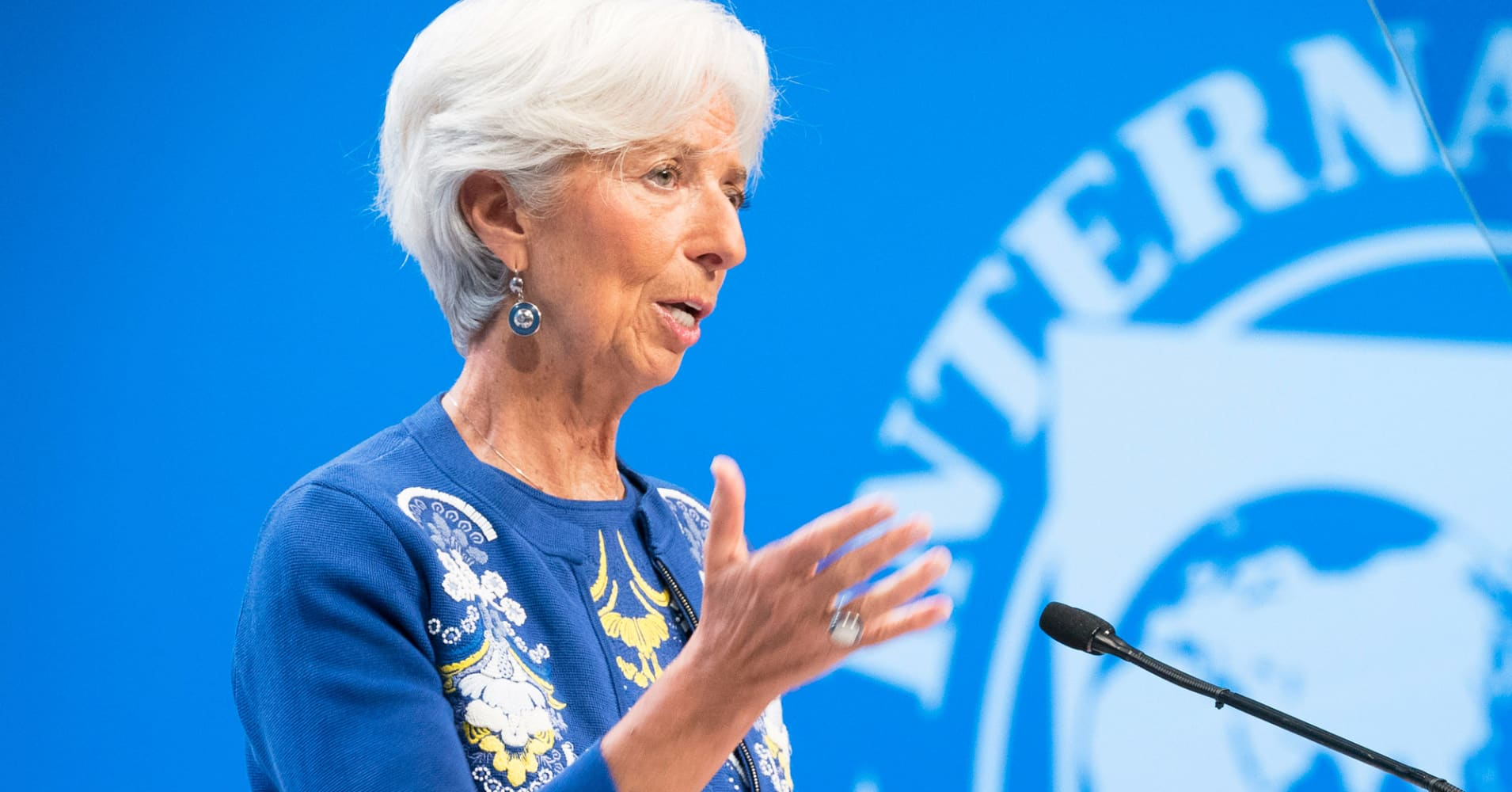 Trade tensions are the biggest risk for the euro zone, the IMF says