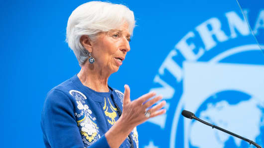 International Monetary Fund Managing Director Christine Lagarde