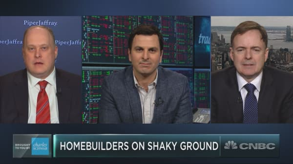 Last year's hottest trade, homebuilders, just entered into a correction