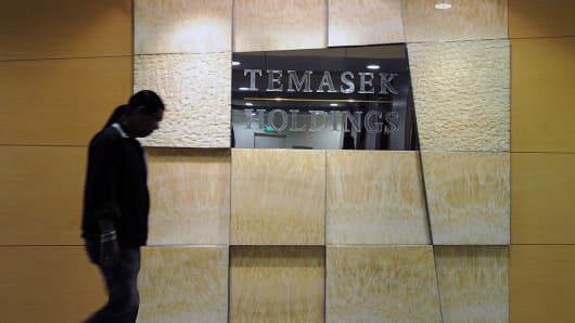 The Temasek Holding company sign in Singapore on July 8, 2010.