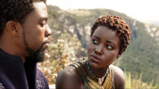 "Lupita Nyong'o in ""Black Panther."""