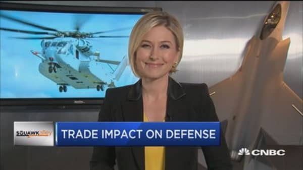 Trump's tariff plan to cost the defense industry