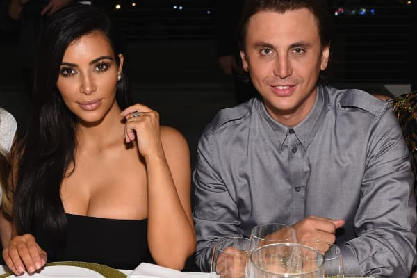 Kim Kardashian West and Jonathan Cheban in Miami in 2014.