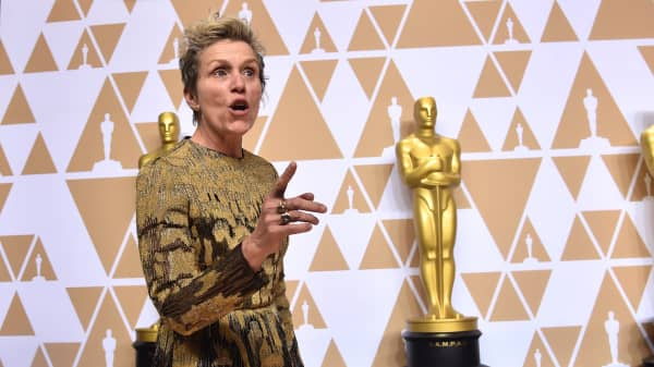 Best-winning Oscar actress Frances McDormand calls for