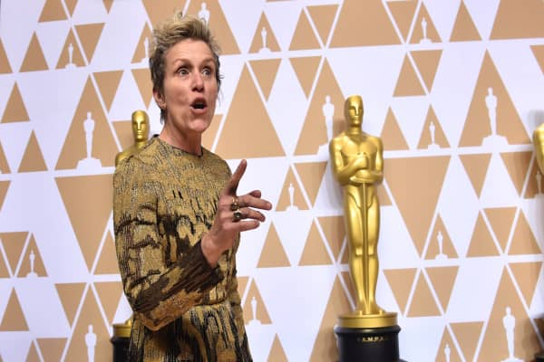 Best-winning Oscar actress Frances McDormand calls for
