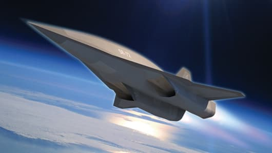 Concept art of a Lockheed Martin SR-72.