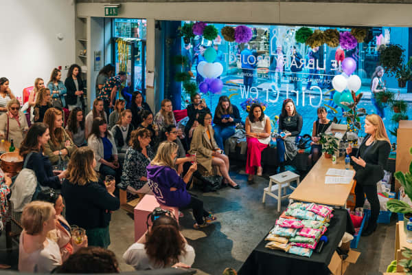 A GirlCrew pop-up shop event