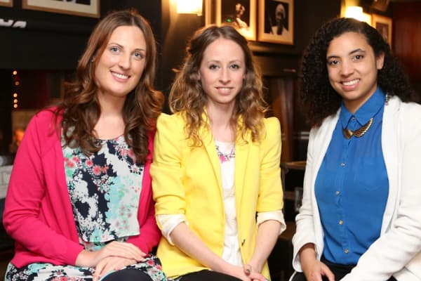 GirlCrew cofounders Pamela Newenham, Elva Carri, and Aine Mulloy.