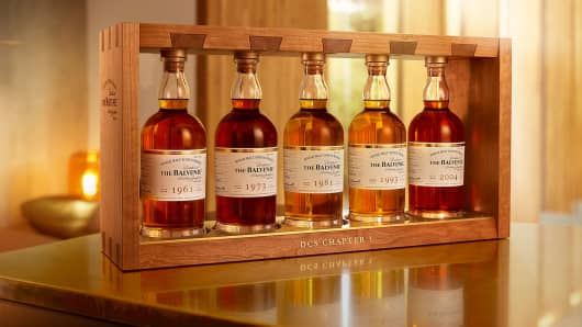 Balvenie Whiskey flight.