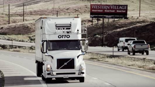 Otto self-driving truck.