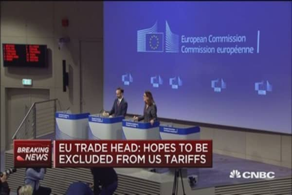 EU trade chief comments on US tariffs