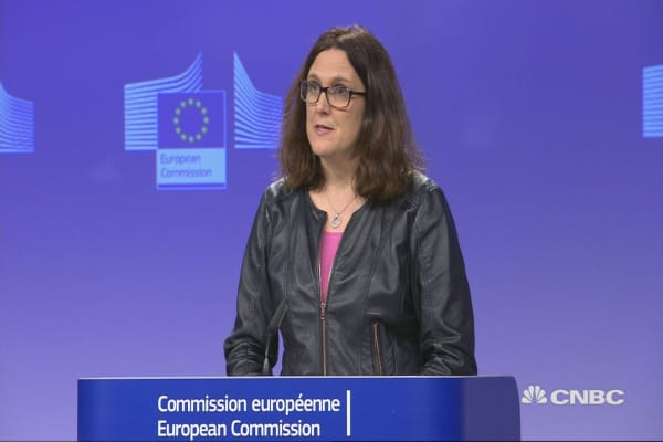 EU's Malmstrom: Hope EU will be excluded from US tariffs