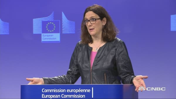 EU's Malmstrom: Provisional list of US goods tariffs being discussed
