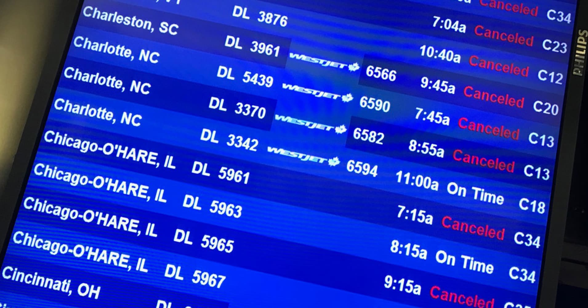 TRAVEL HELL 2000 FLIGHTS SCRAPPED