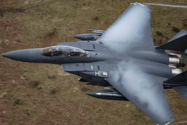 A US Air Force F-15 fighter jet