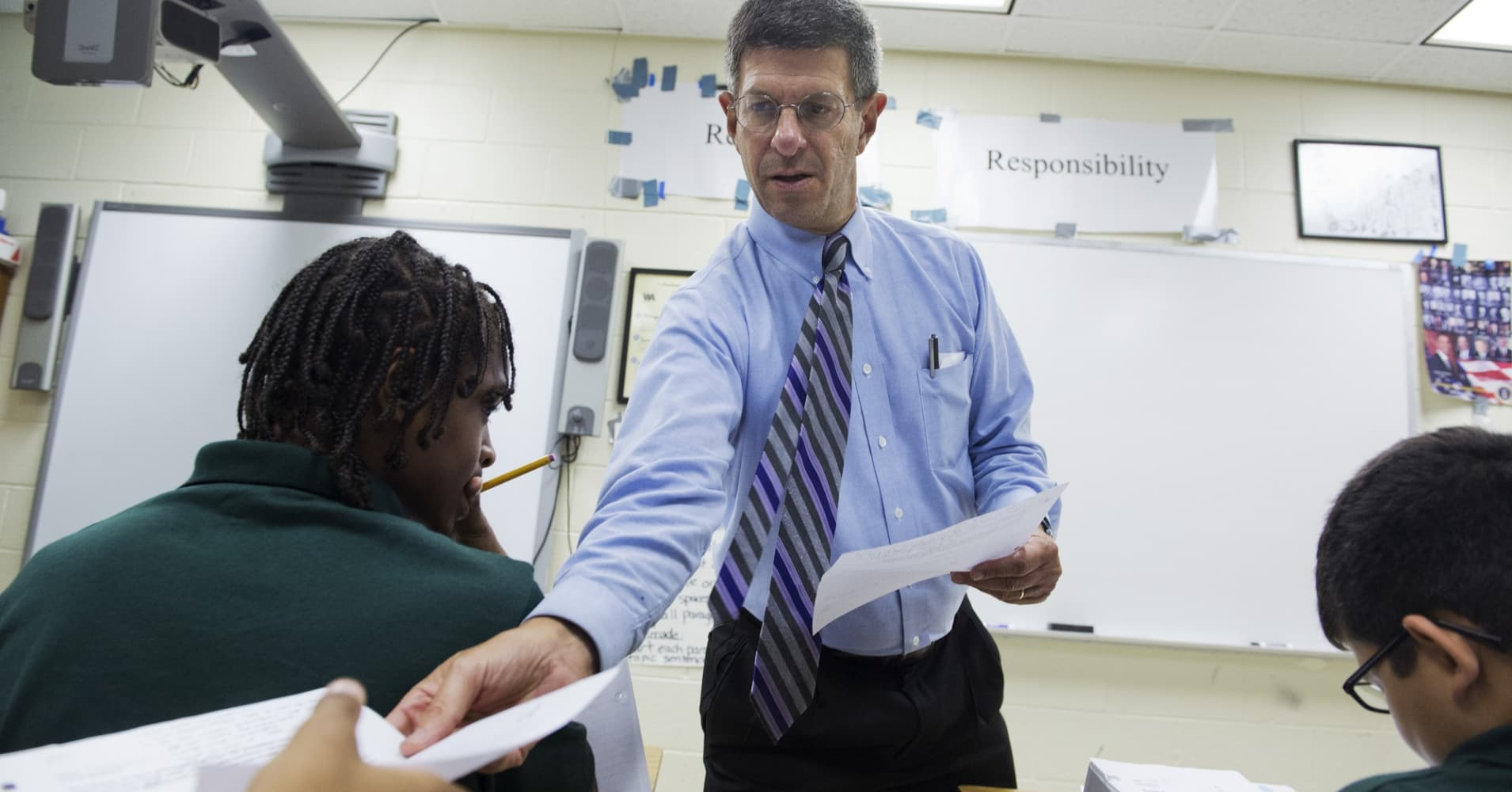 A social studies teacher in Washington D.C.