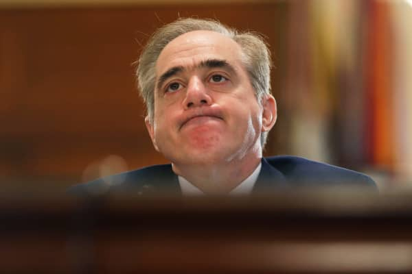 Veterans Affairs Secretary David Shulkin testifies before the House Veterans' Affairs Committee on Capitol Hill on February 15, 2018 in Washington, DC.